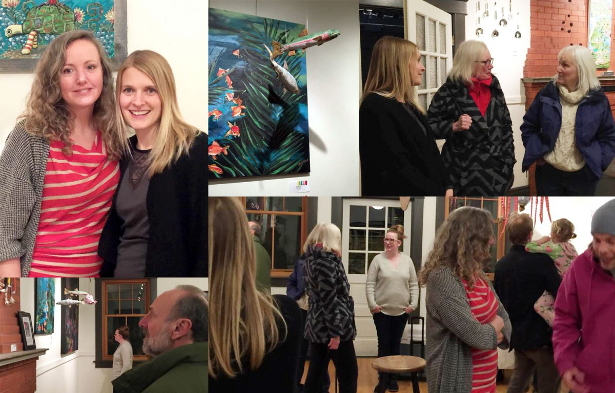 Annex Suspended Art - Opening Night - Art Show - Mobile Exhibition - Collaboration in Fernie BC