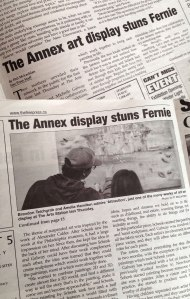 Annex Suspended Art in the News - The Free Press - Fernie BC