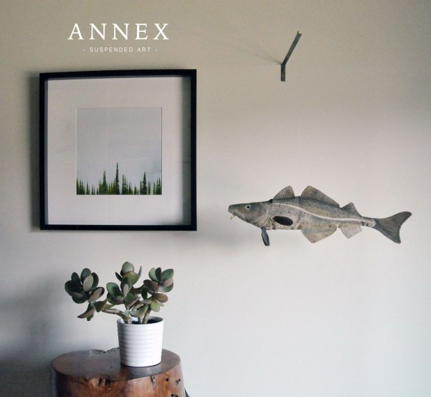 Codfish Suspended Art by Annex Suspended Art - Hand painted, hand crafted