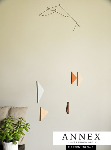 Annex Suspended - contemporary home decor, handmade, crafted in Fernie BC - triangle mobile