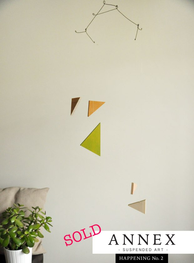 Annex Suspended contemporary mobile - triangles - SOLD