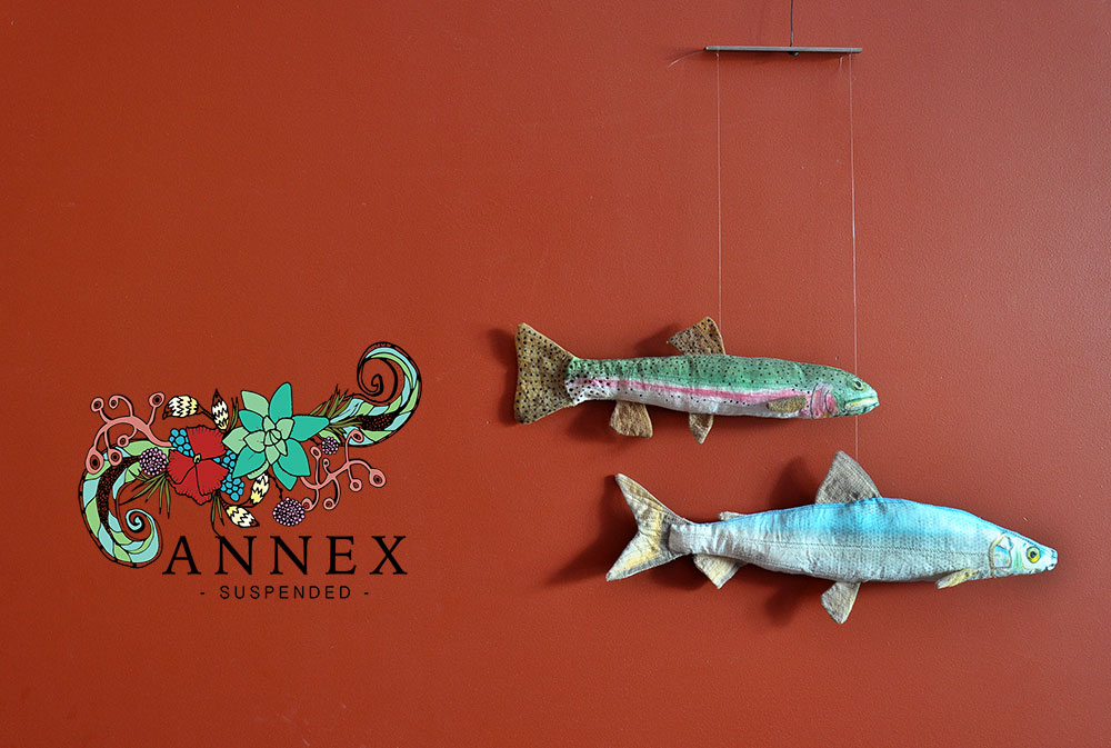 Annex Suspended Trout Mobile - Rainbow Trout, Bull Trout - handmade, one-of-a-kind hanging art