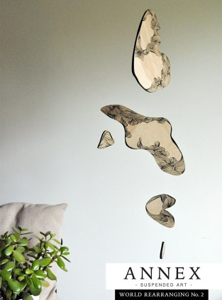 Annex Suspended - suspended art - abstract unique home decor - rare art