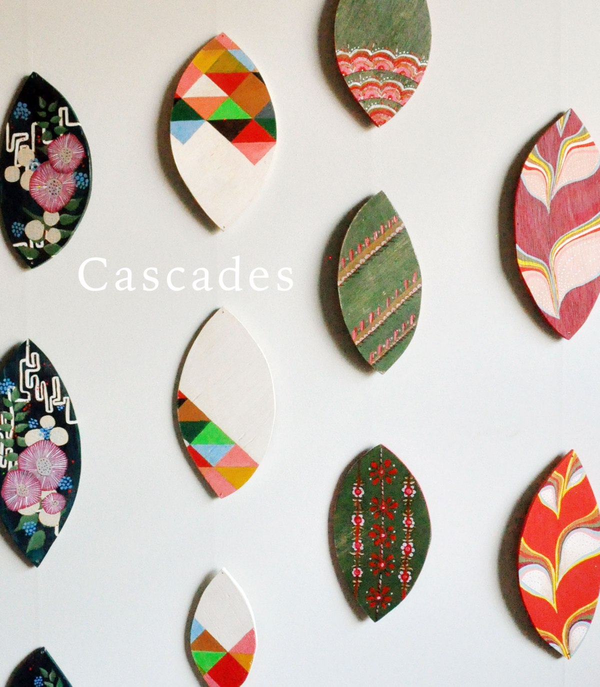 Annex Cascades - Hand Painted Hanging Art - Colourful, Bright and Beautiful Decorative Arts