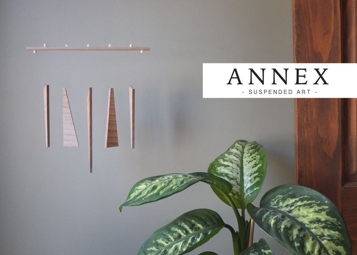 Annex Suspended - Suspended Art - Natural Equilibrium - abstract wall hanging