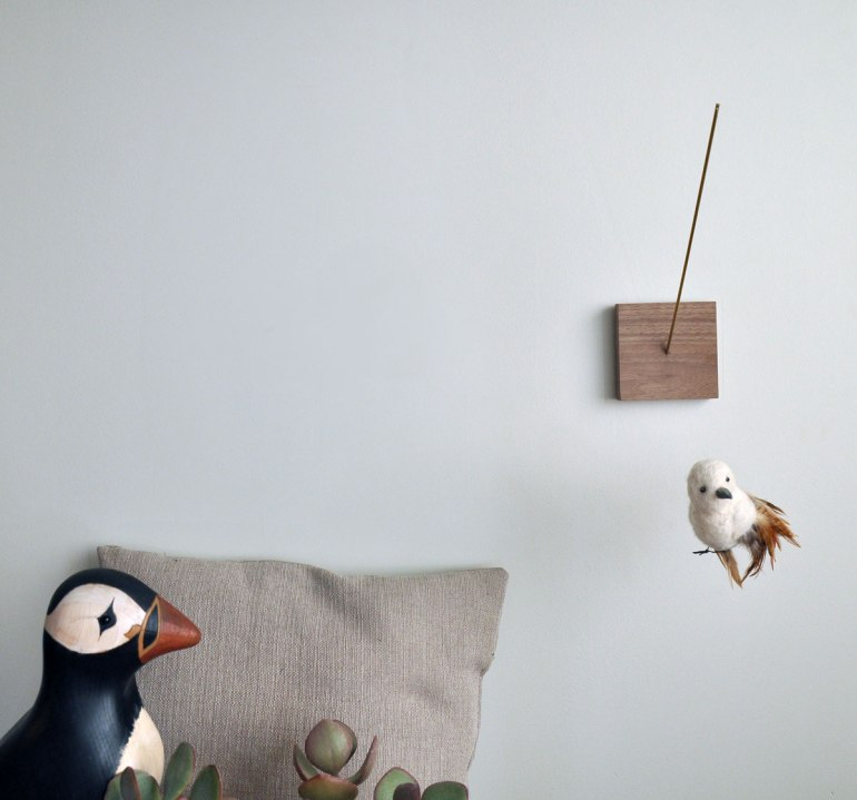 Annex Suspended Art - Wall Hanging - Follow Me Down The Street - Felt Bird