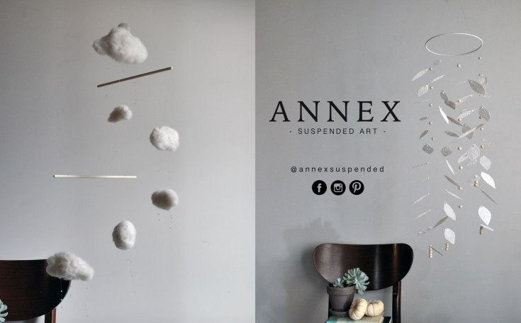 Neutral Mobiles - hand crafted by Annex Suspended Fernie BC Canada