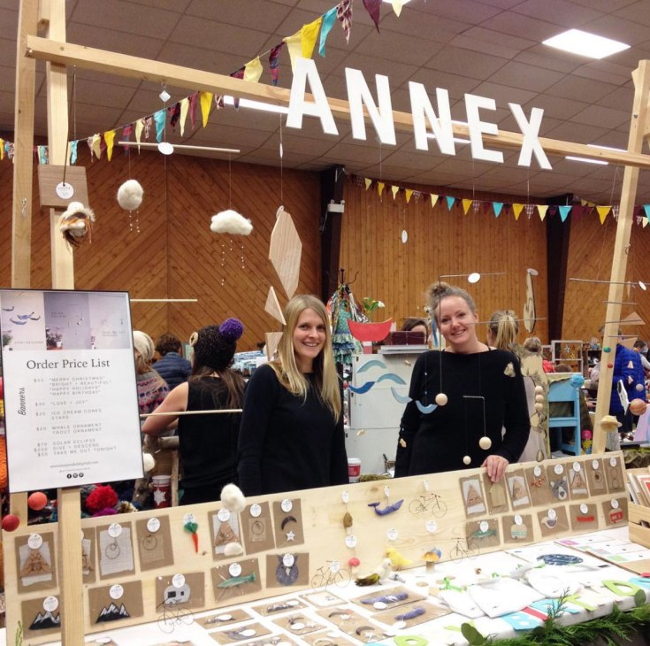 Michelle and Brina at Fernie Craft Fair Market