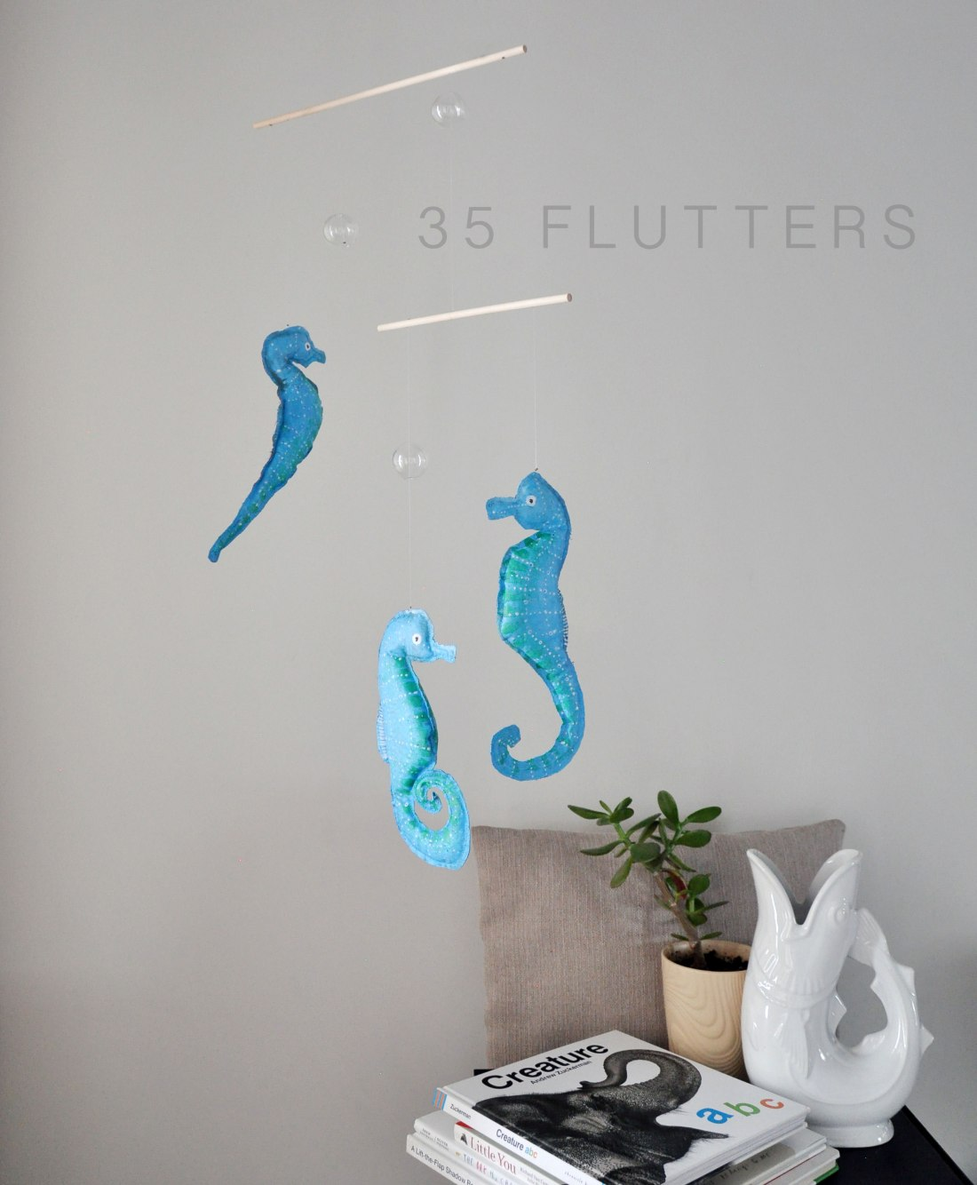 Annex Suspended - Seahorse Handmade Mobile and Glass Beads