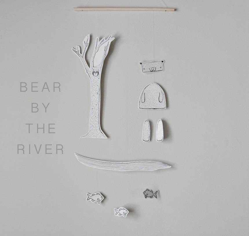 Annex Suspended - Paper Bear by the River Mobile