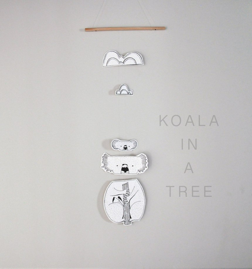 Annex Suspended - Paper Koala in a tree mobile