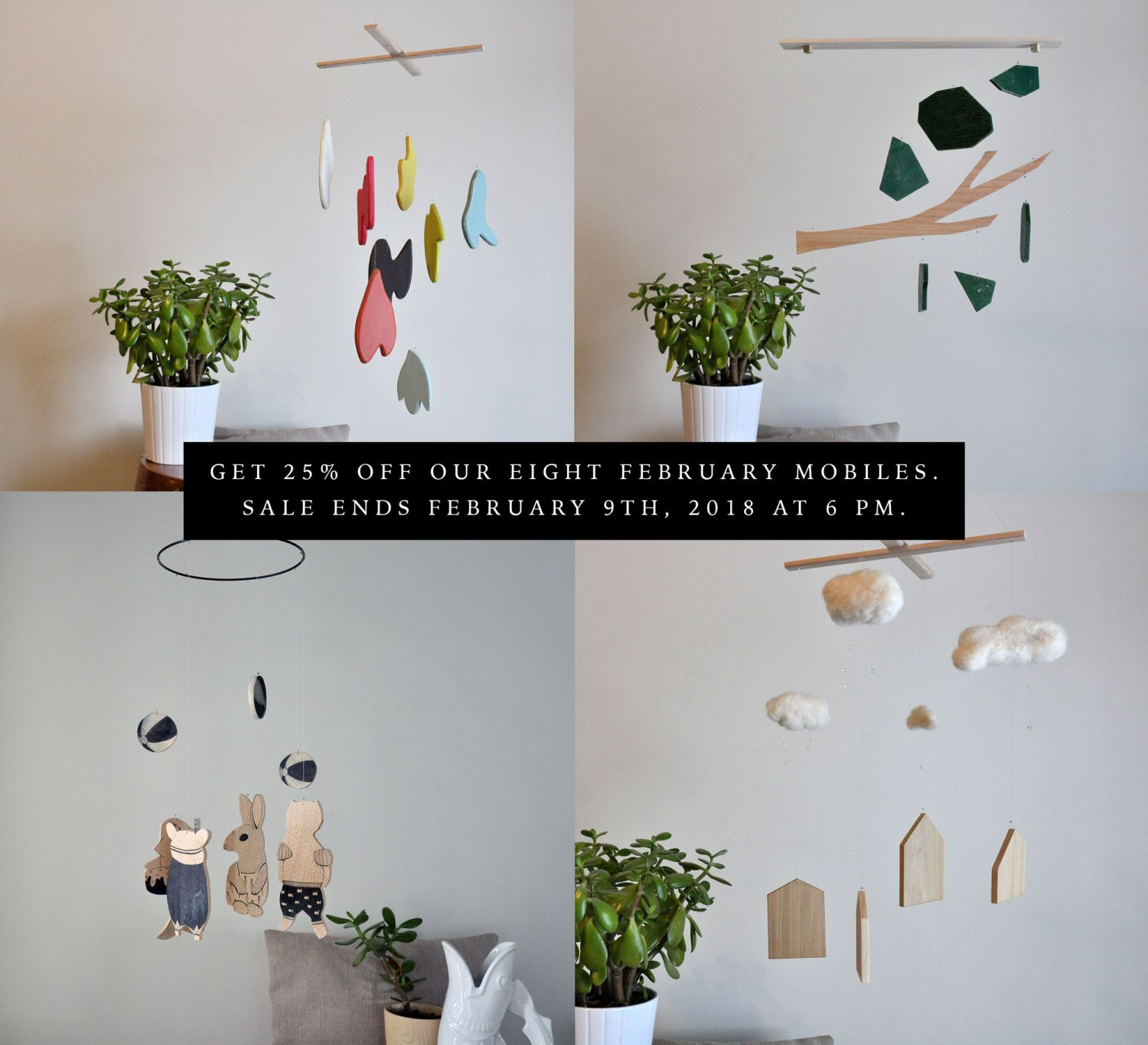 Annex Suspended Art - Mobiles On Sale - Handmade and the best baby shower gift.