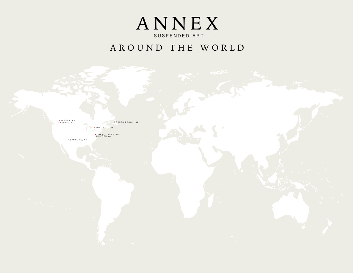 Annex Suspended Mobile Map - Around The World