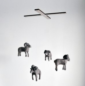 Big Horned Sheep mobile by Annex Suspended - Rocky Mountain Wildlife Animal Art