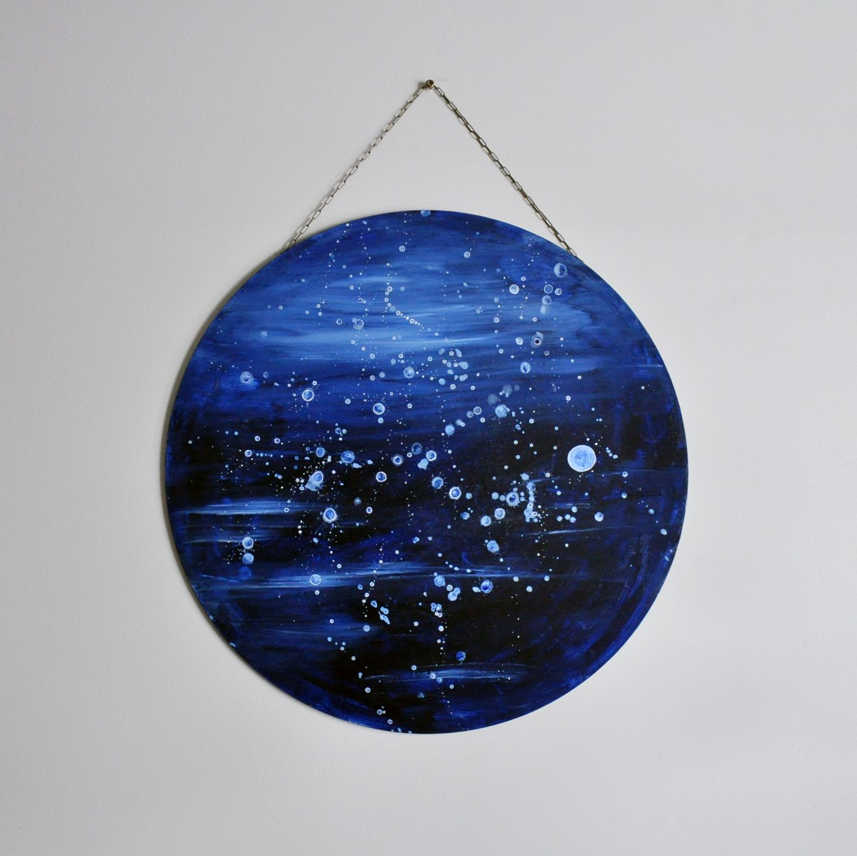 Circle Art Wall Hanging - Deeper Waters by Brina Schenk
