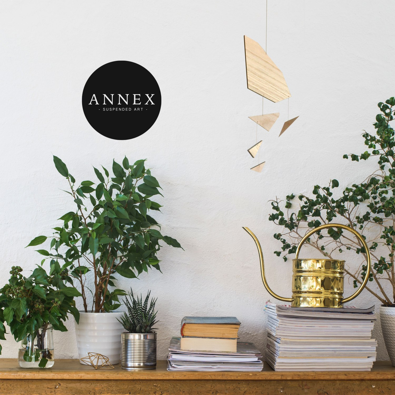 Annex Suspended Art - Wood Mobile Art, Adult Mobiles Abstract Design