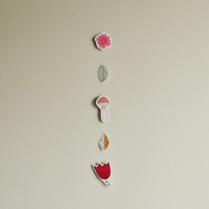 Annex Suspended - Illustration Flora and Fauna Paper Hanging - Nursery room decor