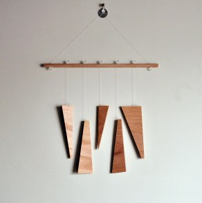 Natural Equilibrium No 2 - Annex Suspended Wall Hanging or Mobile Wood Abstract Design