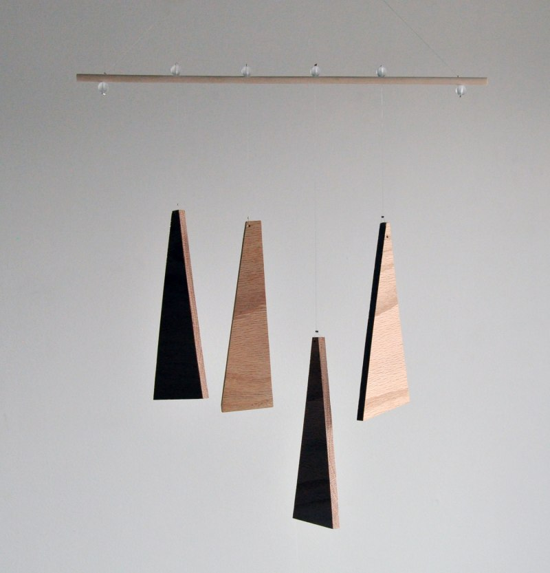 Annex Suspended Art - Natural Equilibrium Abstract Wood Wall Hanging or Mobile