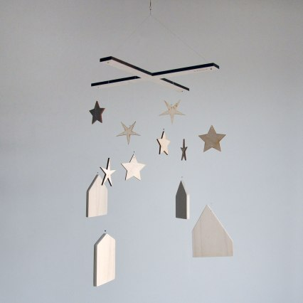 Annex Suspended - Handmade Neutral Baby Mobiles, Made in Fernie BC Canada