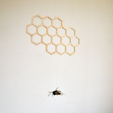 Annex Suspended - Bee and Honeycomb Mobile for Nursery Rooms or Bee Lovers
