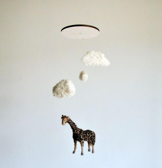 Annex Suspended - giraffe under fluffy clouds