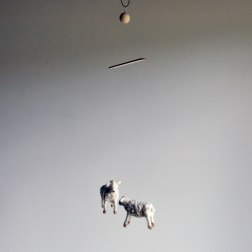 Annex suspended Art - Handmade Mobiles in Canada - Felted Sheep and Lamb Mobile