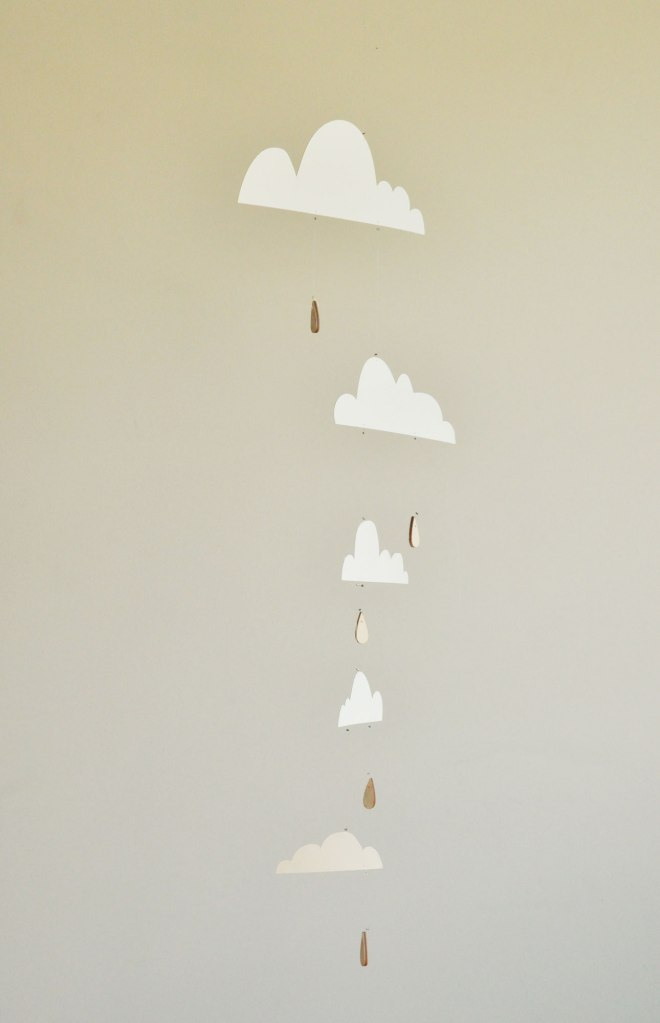 Annex Suspended - Paper Cloud and Raindrop Shower Mobile