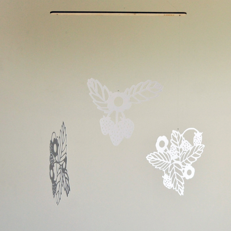 Annex Suspended - Paper Lace Strawberry Mobile