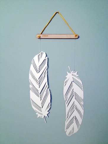 Two Feathers - Paper Wall Hanging by Annex Suspended