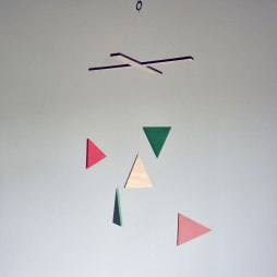 Happening No. 6 - Triangle Geometric Wood Mobile