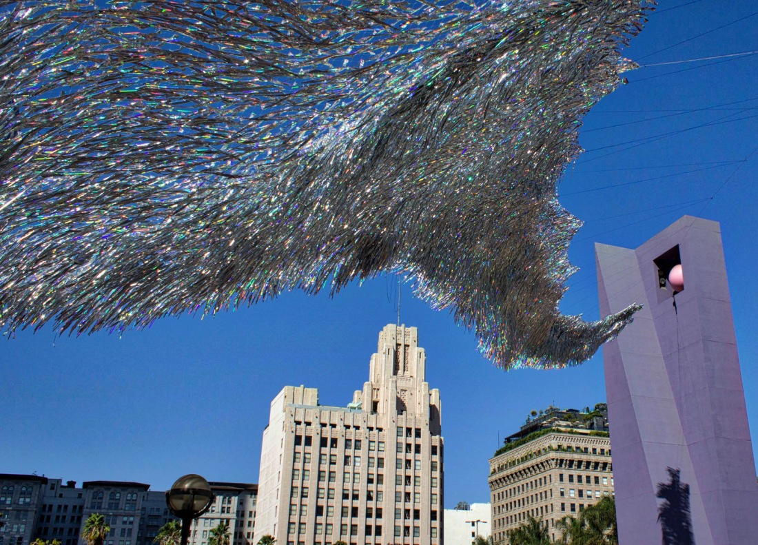 Poetic Kinetics - Liquid Shard - Los Angeles Kinetic Art Sculpture mimics waves