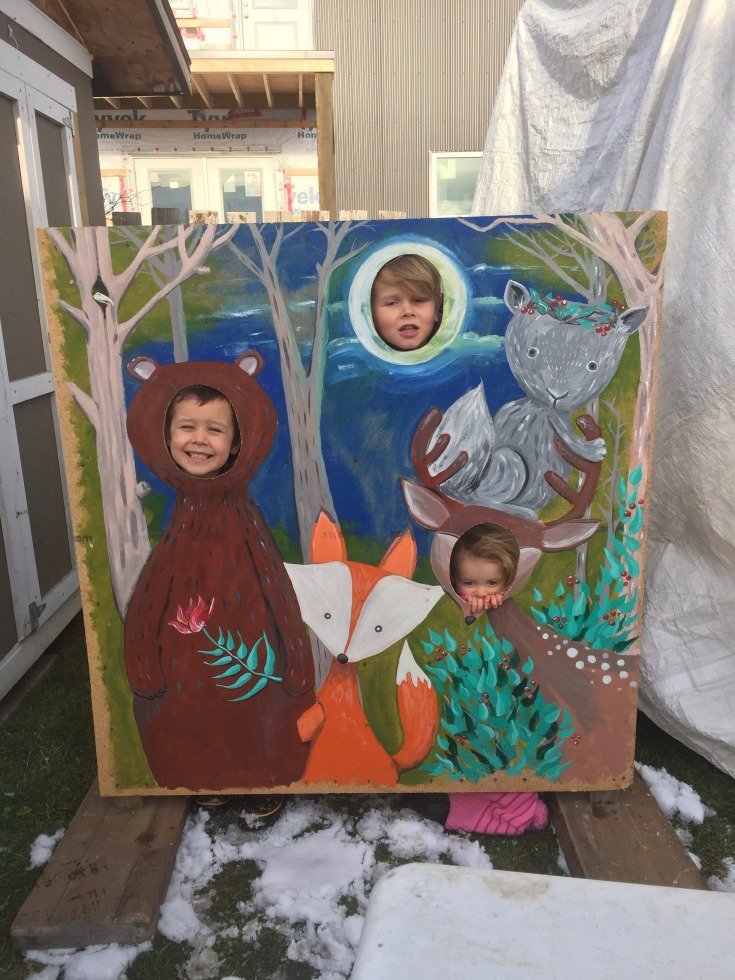 Head in the Hole Painted Woodland Animals Scene for Fernie Lantern Festival -