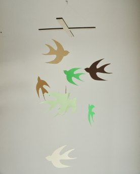 Annex Suspended Art - Flock of Swallows, a flying bird paper mobile