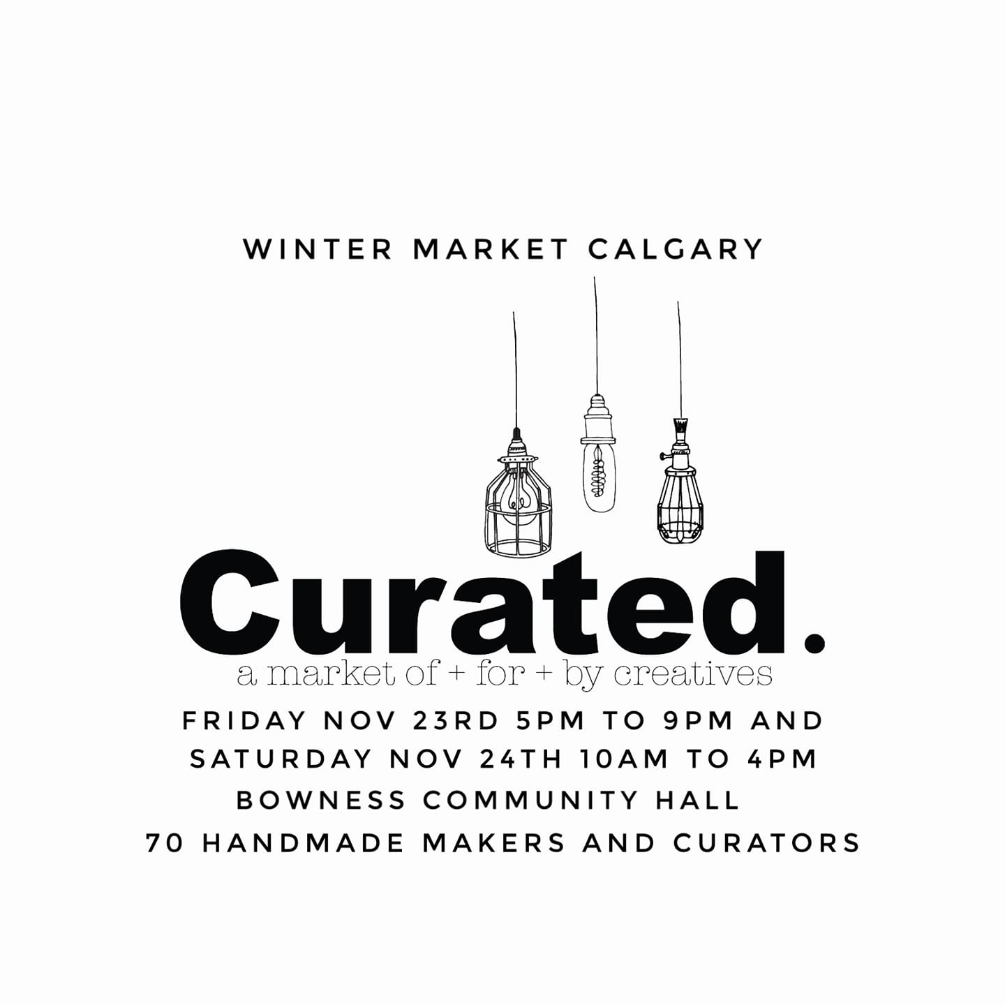Our First Market This Winter – Curated In Calgary