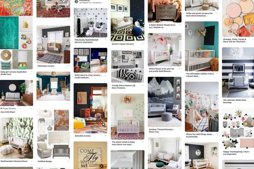 Bold Nursery Inspiration Imagery on Pinterest