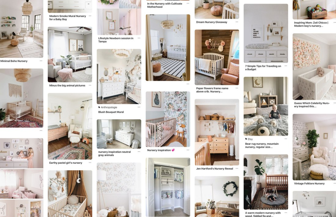 Pinterest Nursery Inspiration Imagery - neutral and organic
