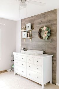 Soft, Floral Nursery Room Style - Bedroom decor with natural textures.