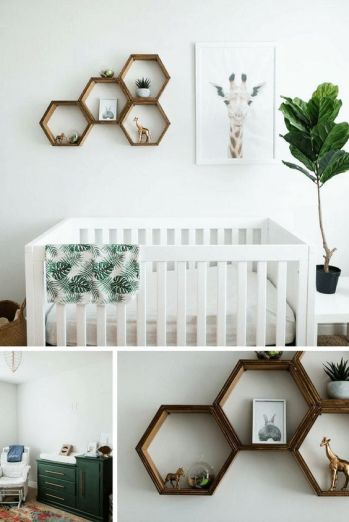 Safari Giraffe Nursery Room Design Inspiration from Pinterest - The Little Milk Bar - Kola's Gender Neutral Nursery