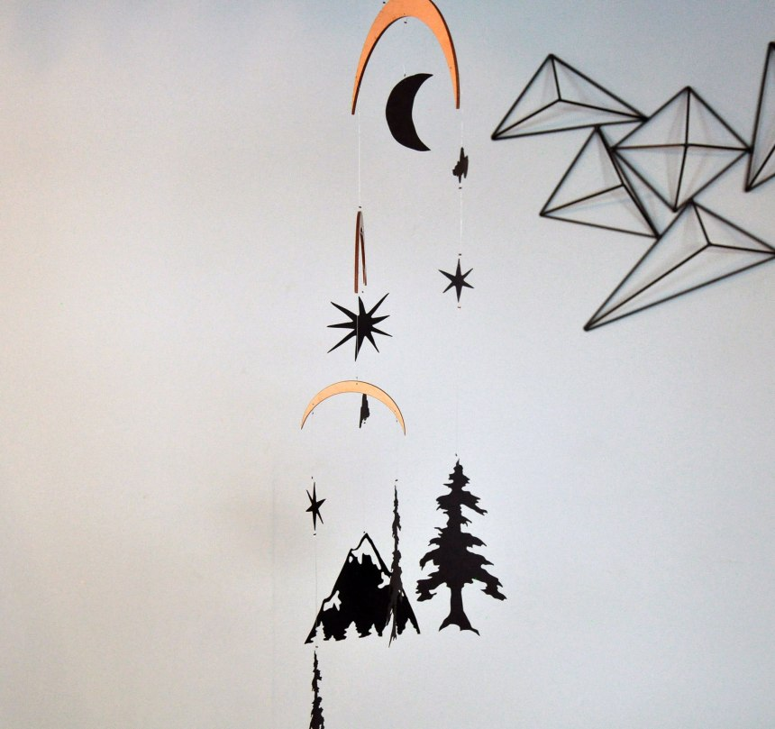 Rocky Mountain Paper Mobile by Annex Suspended