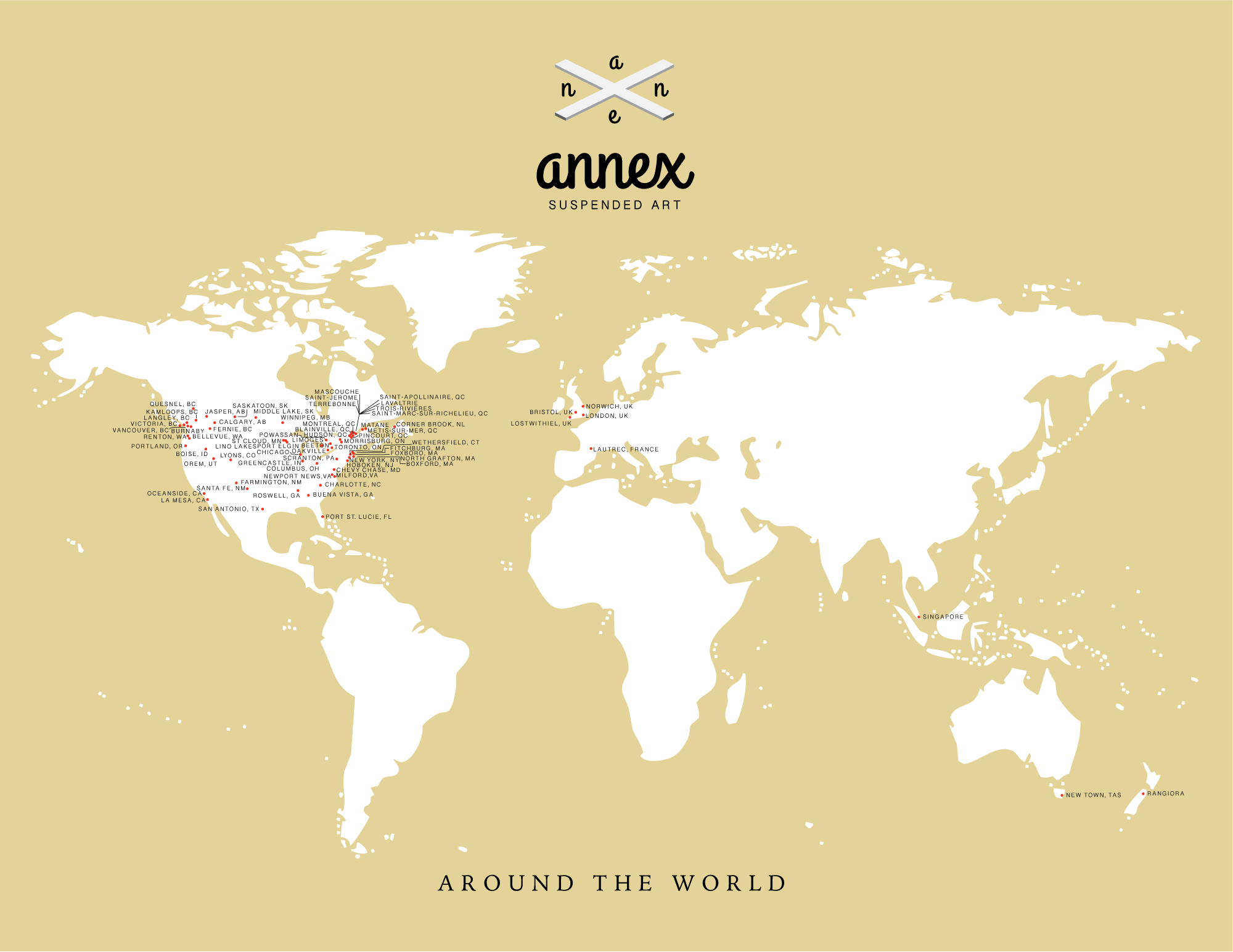Annex Suspended Around The World